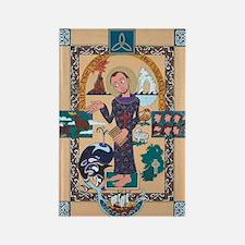 Saint Brendan Painting Rectangle Magnet