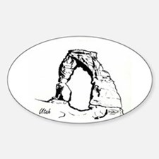 Delicate Arch BW Decal