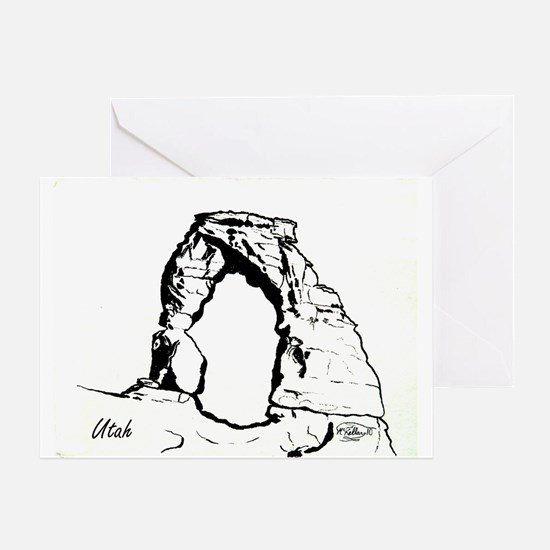 Delicate Arch BW Greeting Card