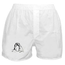 Delicate Arch BW Boxer Shorts