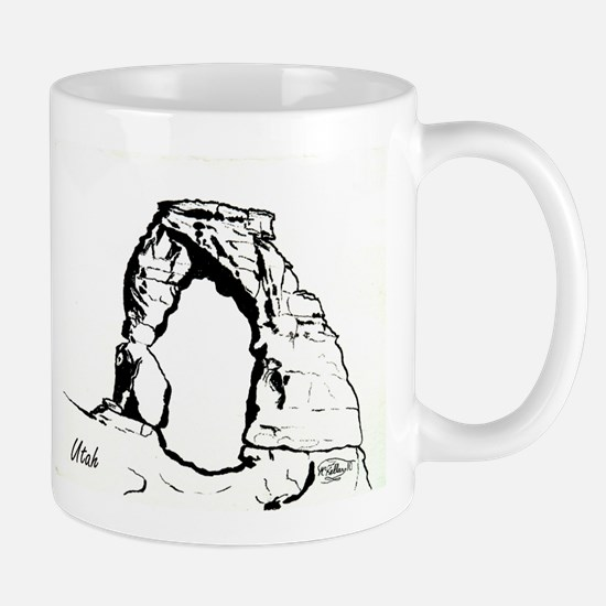Delicate Arch BW Mug