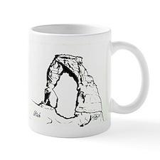Delicate Arch BW Small Mug