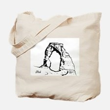 Delicate Arch BW Tote Bag