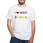 Beer + bike White T-Shirt