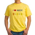 Beer + bike Yellow T-Shirt