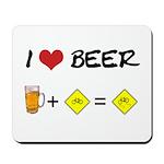 Beer + bike Mousepad