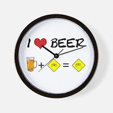 Beer + bike Wall Clock