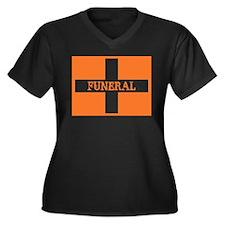 Funeral Women's Plus Size V-Neck Dark T-Shirt
