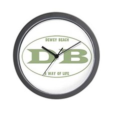 Dewey Beach Euro Wall Clock