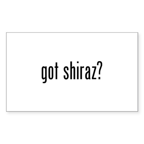 Got Shiraz Sticker (Rectangle)
