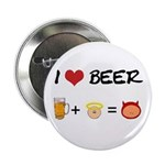 Beer + angel Button