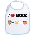 Beer + angel Bib
