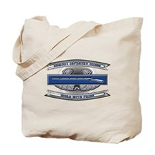 US Army CIB Worn With Pride Tote Bag