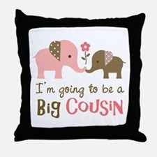 Big Cousin - Elephant Throw Pillow