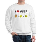 Beer + car Sweatshirt