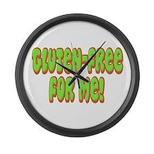 Gluten Free For Me Celiac Large Wall Clock
