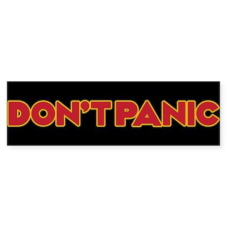 Dont Panic Sticker Bumper Sticker
