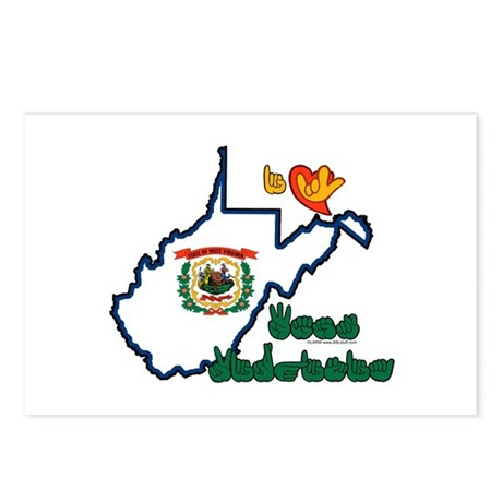ILY West Virginia Postcards (Package of 8)