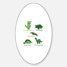 Dinosaurs Galore Oval Decal