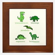 Dinosaurs Galore Framed Tile