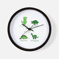 Dinosaurs Galore Wall Clock