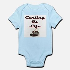 Curling is Life Infant Creeper