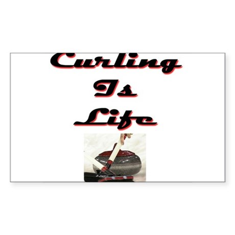 Curling is Life Rectangle Sticker