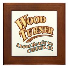 """""""Wood Turner""""  Framed Tile"""