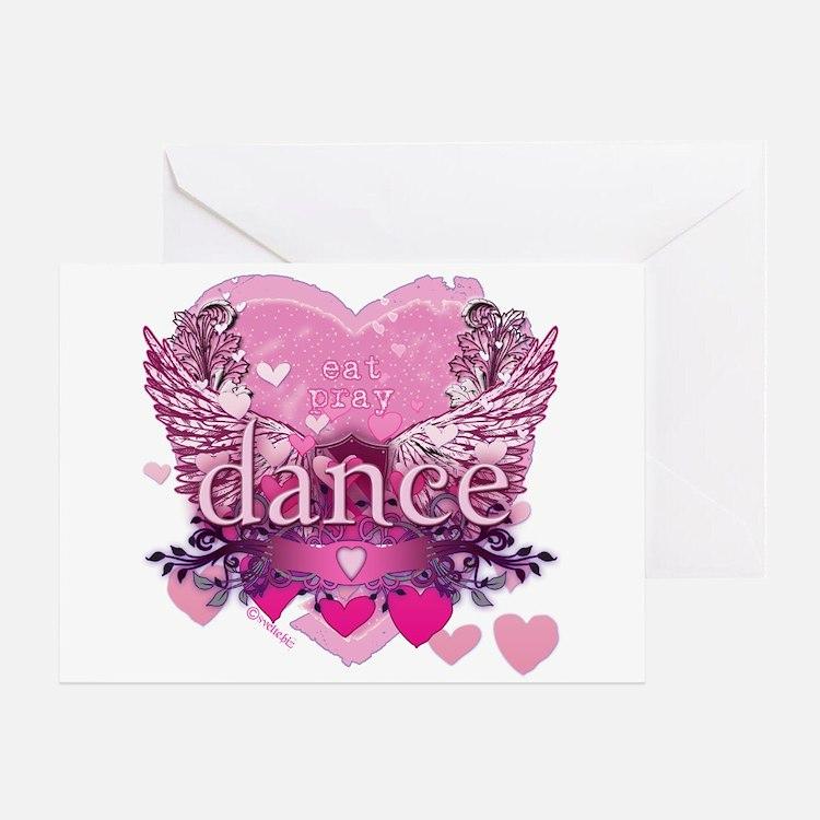 Eat Pray Dance by Danceshirts.com Greeting Card