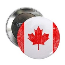 """Canadian Flag 2.25"""" Button"""