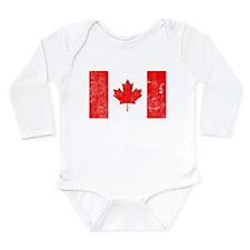 Canadian Flag Long Sleeve Infant Bodysuit