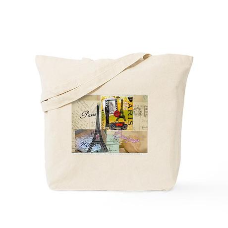 Paris & Eiffel Tower Tote Bag