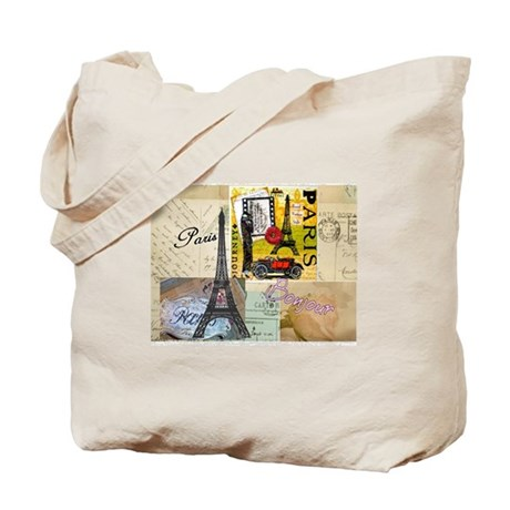 Paris & Eiffel Tower Tote Bag