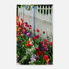 tulips garden white picket fence photo Cape May NJ