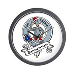 Bannerman Clan Badge Wall Clock