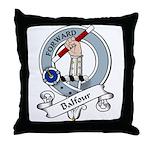 Balfour Clan Badge Throw Pillow