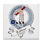 Balfour Clan Badge Tile Coaster