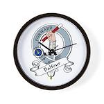 Balfour Clan Badge Wall Clock
