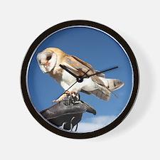 European Barn Owl Wall Clock