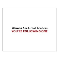 Women Are Leaders Posters