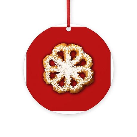 Scandanavian Rosette Cookie Ornament (Round)
