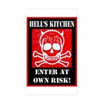 Hell's Kitchen Logo Sticker (Rectangle 50 pk)