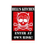 Hell's Kitchen Logo Sticker (Rectangle 10 pk)