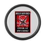Hell's Kitchen Logo Large Wall Clock