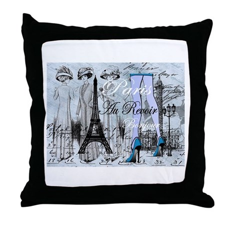 Paris & Eiffel Tower Throw Pillow