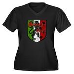 Jersey Girl Women's Plus Size V-Neck Dark T-Shirt