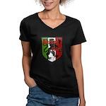 Jersey Girl Women's V-Neck Dark T-Shirt