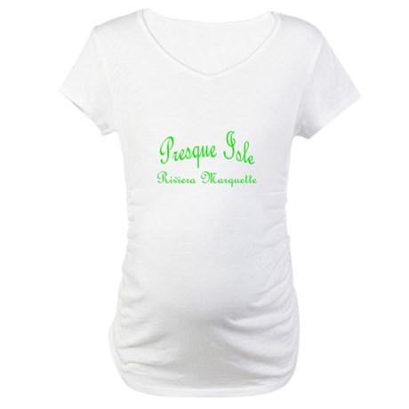 Lime Presque Isle Maternity T-Shirt