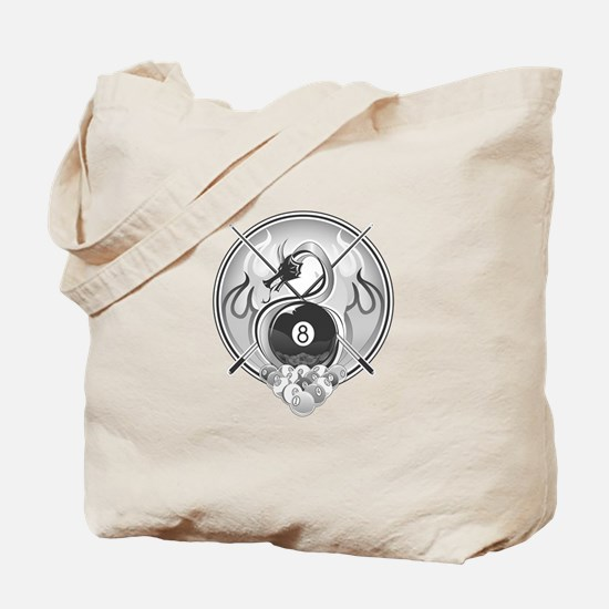 8 Ball Dragon Tote Bag