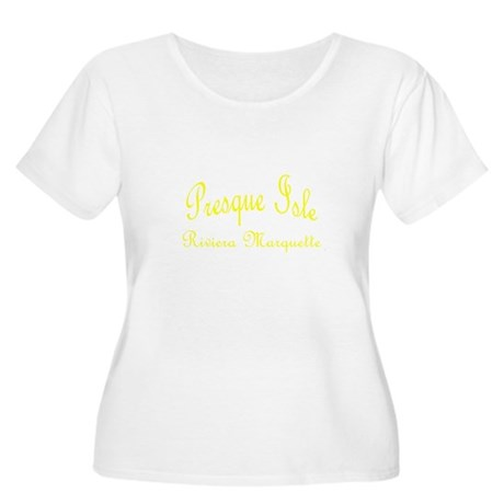 Yellow Presque Isle Women's Plus Size Scoop Neck T